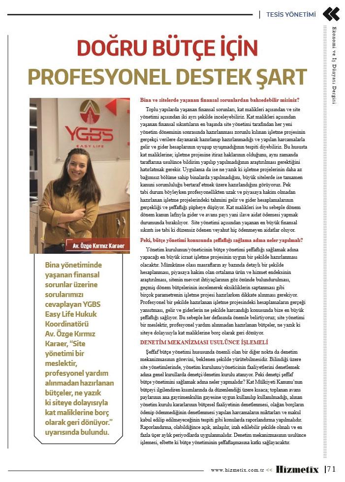 YGBS hizmetix dergi röpörtajı 2