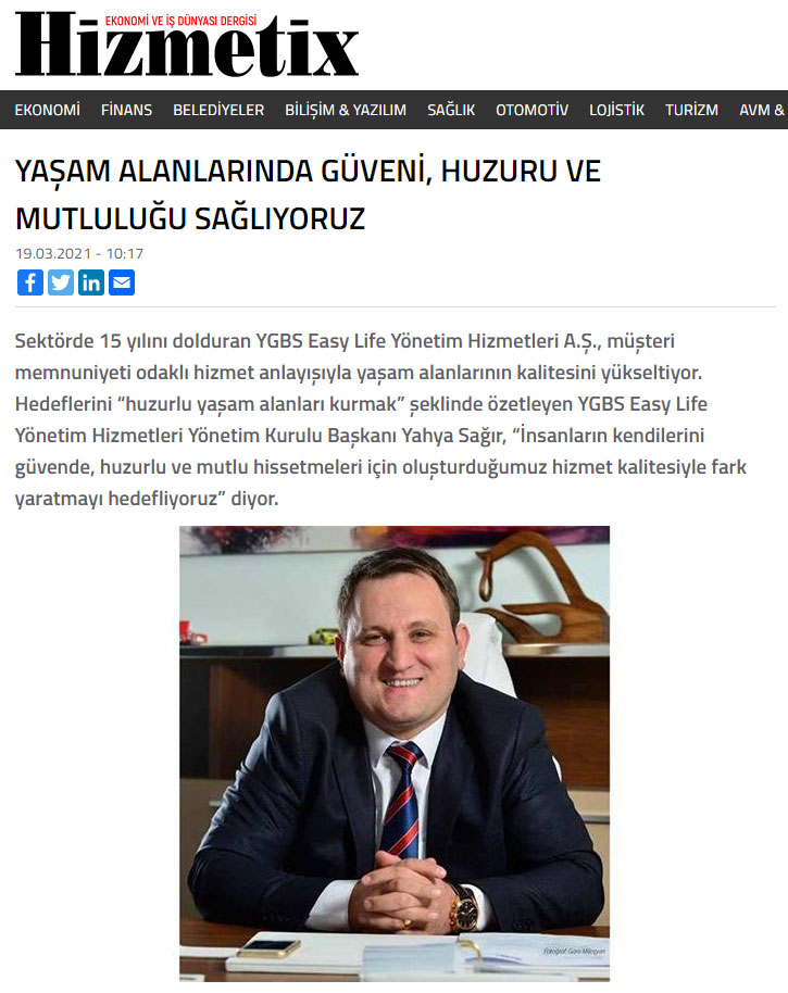 Hizmetix dergisi haber